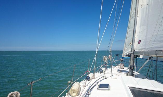 Mise à flot et test du voilier