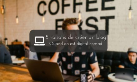 5 bonnes raisons de bloguer quand on est Digital Nomad